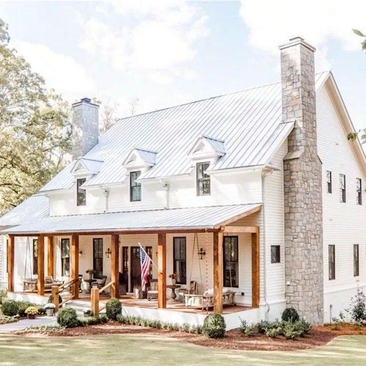 30 Inspiring Farmhouse Home Exterior Design Ideas Dream House Exterior Modern Farmhouse Exterior House Exterior