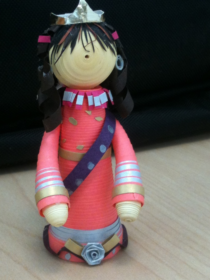Ms. World.. a paper quilled doll.. :)