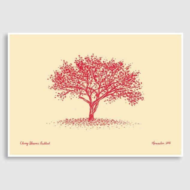 Cherry Blossom Art Print by Natasha Vermeulen