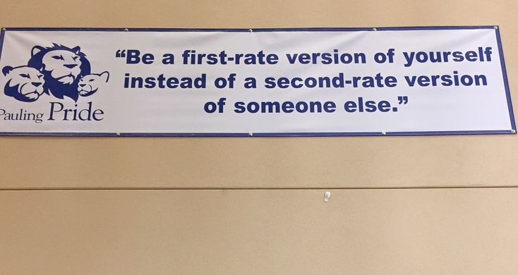 We see a lot of great mission statements visiting StudySync schools, like this one in Corvallis, Oregon.