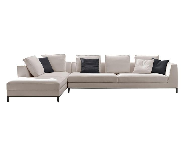 lucrezia, a modular system that includes traditional seating designs distinguished by a seat cushion with a band and trim. all elements can be custom made..