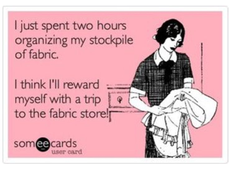 Actually, I should just head to the fabric store first. no sense in organizing til I get the fabric. Makes more sense, eh? Tee hee!