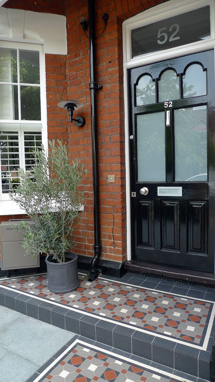 victorian mosaic porch step london