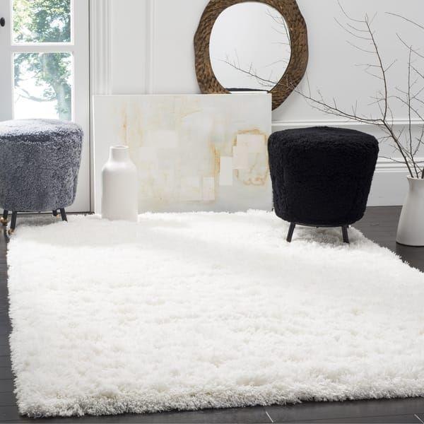 Safavieh Polar White Shag Rug (8' x 10') | Overstock.com Shopping - The Best Deals on 7x9 - 10x14 Rugs