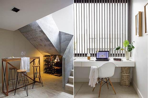 Ideas claras en una casa para una familia numerosa  La escalera y el patio inglés llevan luz natural y ventilación a todo el subsuelo..         Foto:Living           /Ciuffo Santiago