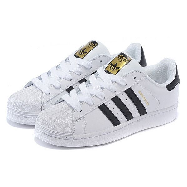 adidas superstar black white and gold