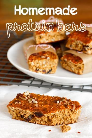 Homemade Protein Bars -- make your own homemade protein bars that are as delicious as they are filling and satisfying!