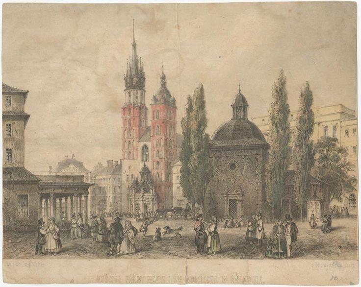 Rynek de Cracovie en 1865.