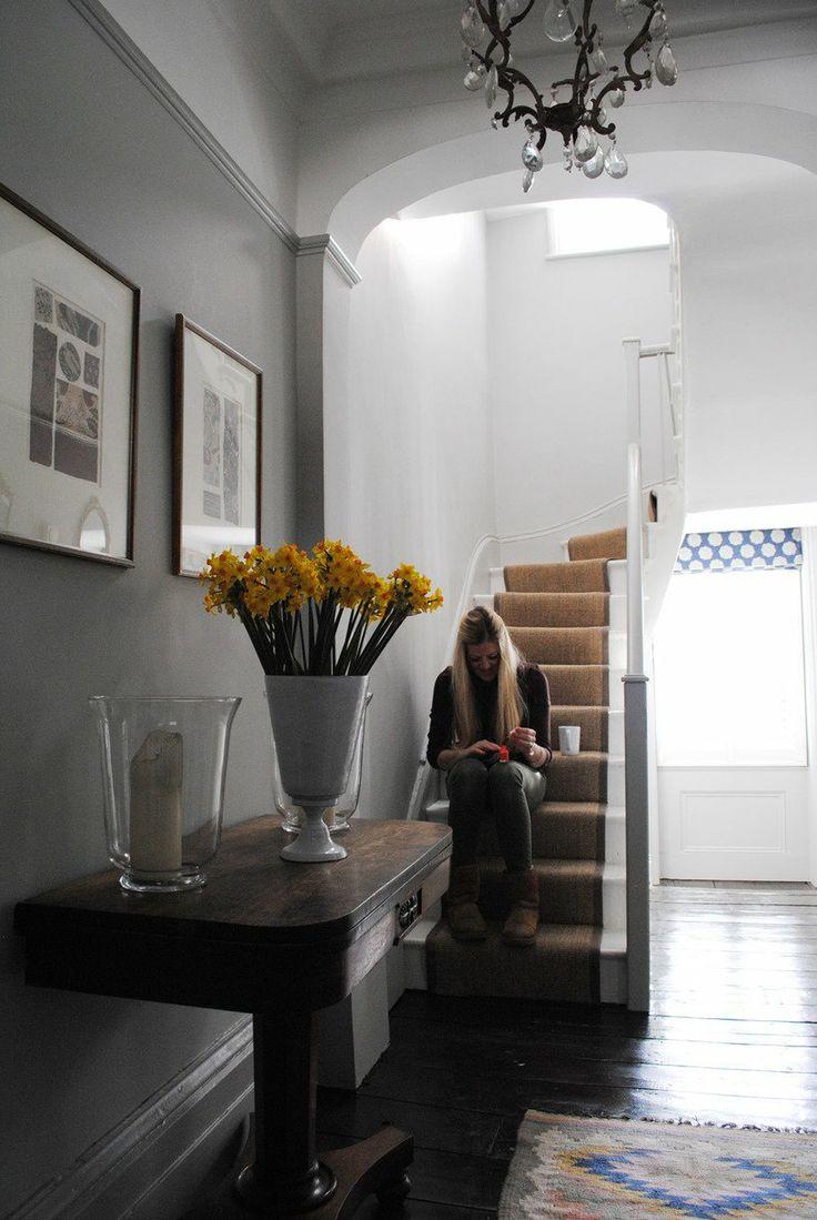 Katharine & James' Glamorous Family Home in London House Tour   Apartment Therapy - Hall paint - Farrow & Ball Pavillion Gray