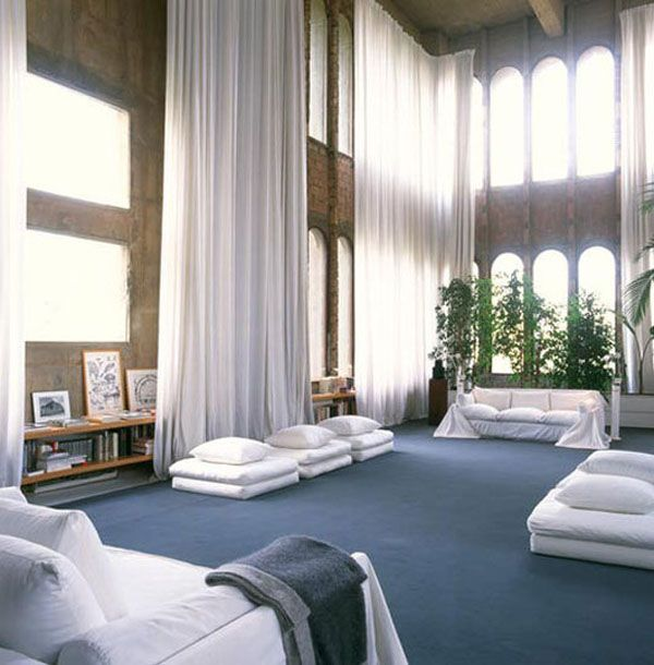 Ricardo Bofill Cement Plant House 4: Ricardo Bofill, Interior, Spaces, Living Room, High Ceilings, Architecture, Factories, Homes