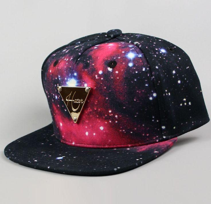 Hater Galaxy Cosmos Snapback Hat Cap Foamposite by AgoraSnapbacks, $59.99