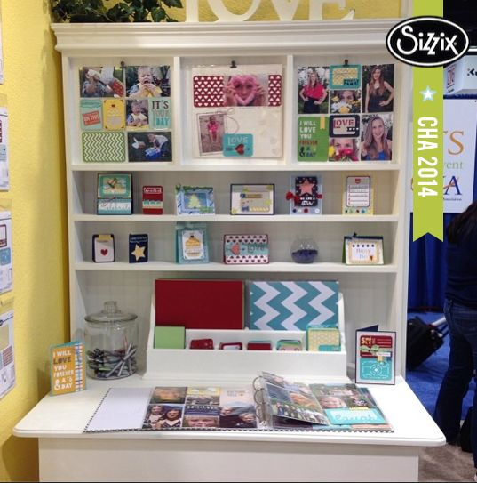 The Life Made Simple collection by Sizzix. So perfect for both pocket pages and cards! #sizzixcha #lovesizzix #chashow