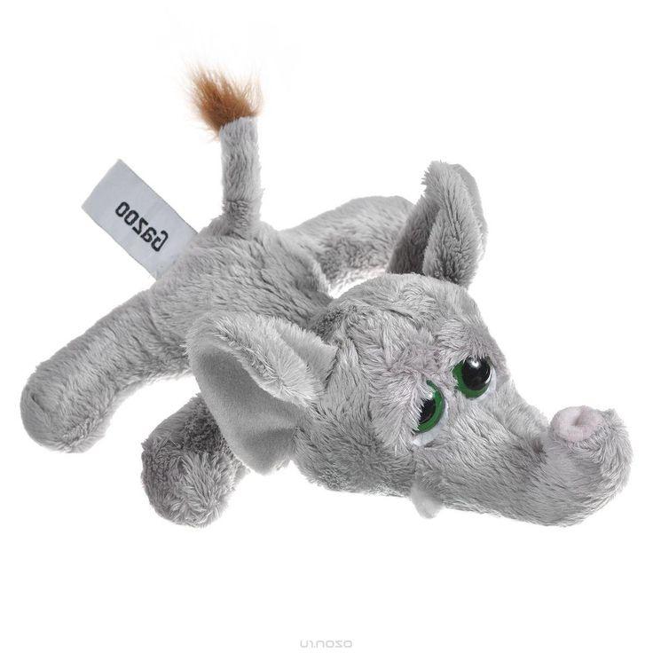 Мягкая игрушка Russ Слон Пиперс, цвет: серый, 20 см