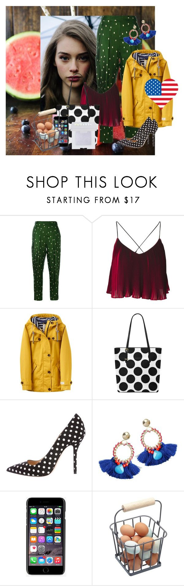 """""""loving USA dots"""" by betsabe13 ❤ liked on Polyvore featuring 3.1 Phillip Lim, Joules, Oscar de la Renta and Dolce&Gabbana"""