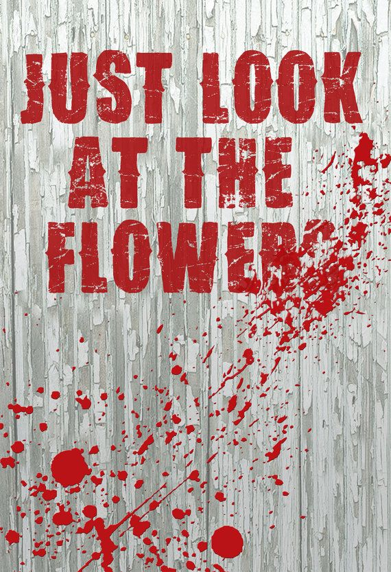 The Walking Dead Look At The Flowers the Grove Mini Poster Print on Etsy, £4.82