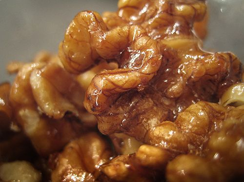 Raw Soaked Candied Walnuts