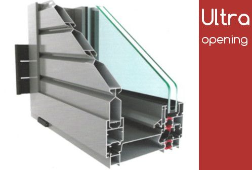 Το θερμομονωτικό σύστημα αλουμινίου Alousystem Ultra Opening 2016 με πολλαπλά κλειδώματα καθιστώντας ουσιαστικά το κούφωμα αδιατάρακτο.