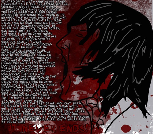 """Bmth Quotes: """"It Never Ends"""" By Bring Me The Horizon"""