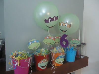 Διακόσμηση για πάρτι χελωνονιντζάκια