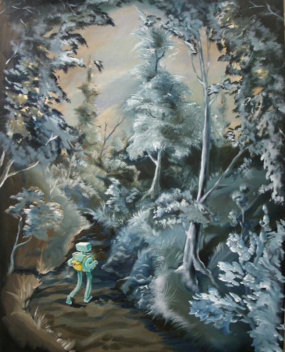 Forest Walk by JoleneMackieArt on Etsy, $360.00
