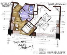 酒店设计大师赛:洪忠轩作品--平面图