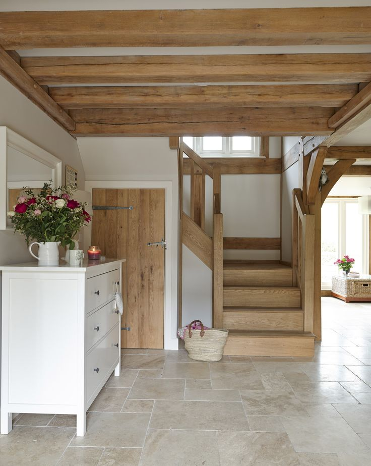 open plan cottage interior
