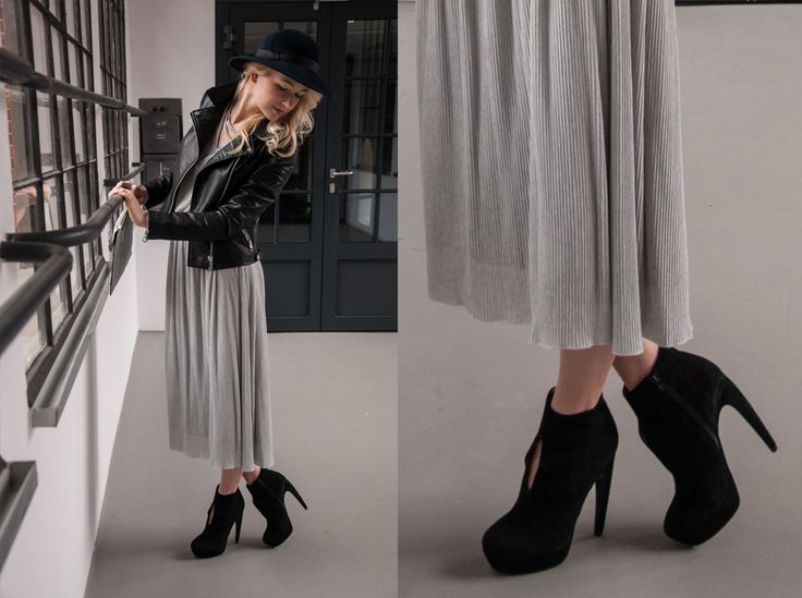 Amazing 80's dress with modern Jeffrey Campbell shoes and vintage hat! Check our blog for more photos: http://awake-fshn.pl/blog/rocky-style