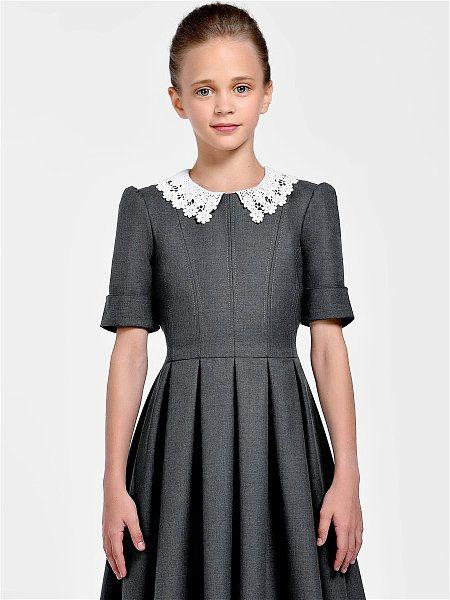 234482999c6bbc4 Платье Джулия Wool Sc Alisia Fiori. Цвет графит, серый, молочный. Вид 2.