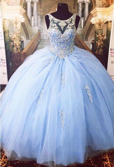 25cf46e36c4 Cinderella Ice Blue Ball Gown