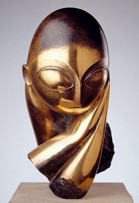 Constantin Brâncuşi: Mademoiselle Pogany - bronze