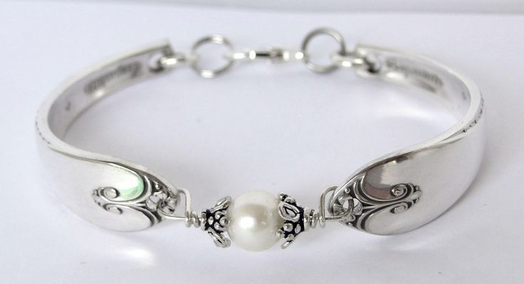 Jewelry Made Out Of Silverware | ... with genuine fresh water pearl- unique silverware jewelry.Med