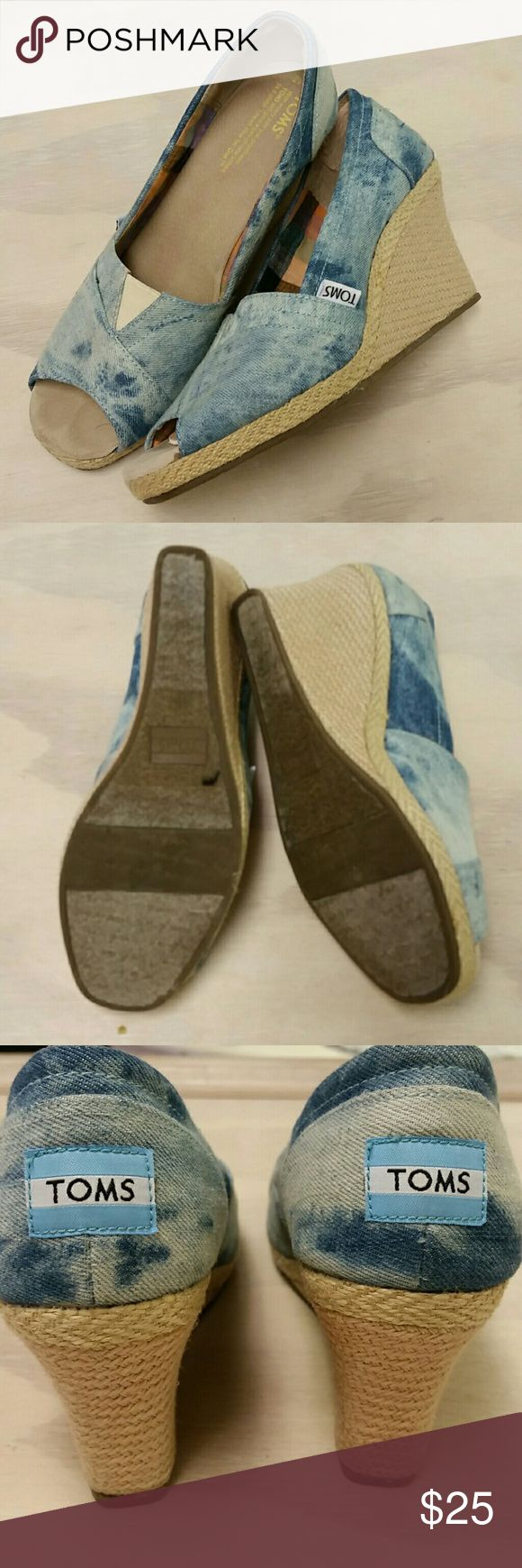 Toms wedges Toms peep toe wedges TOMS Shoes Wedges
