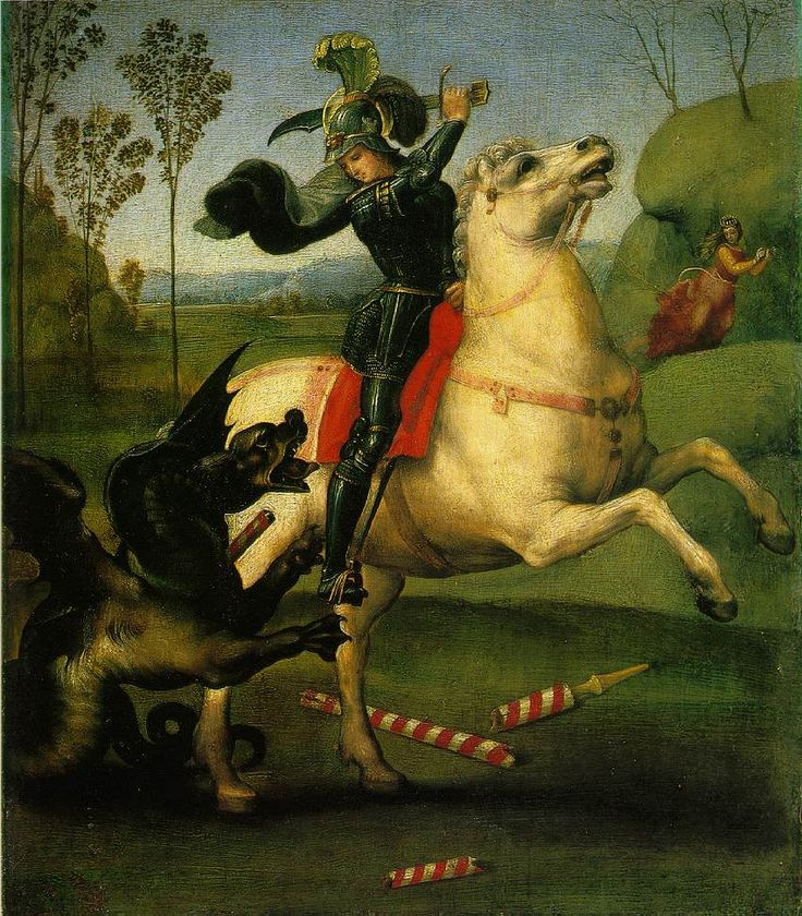 Rafael - St. George Fighting the Dragon - Musee du Louvre - Paris