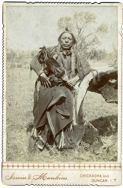 2009 Top One Hundred Countdown # 41: An American-Indian Posing Outdoors, Indian Territory, Oklahoma, via Flickr.