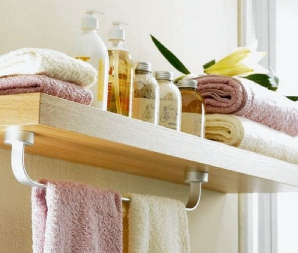 Towel Rack and Shelf in One