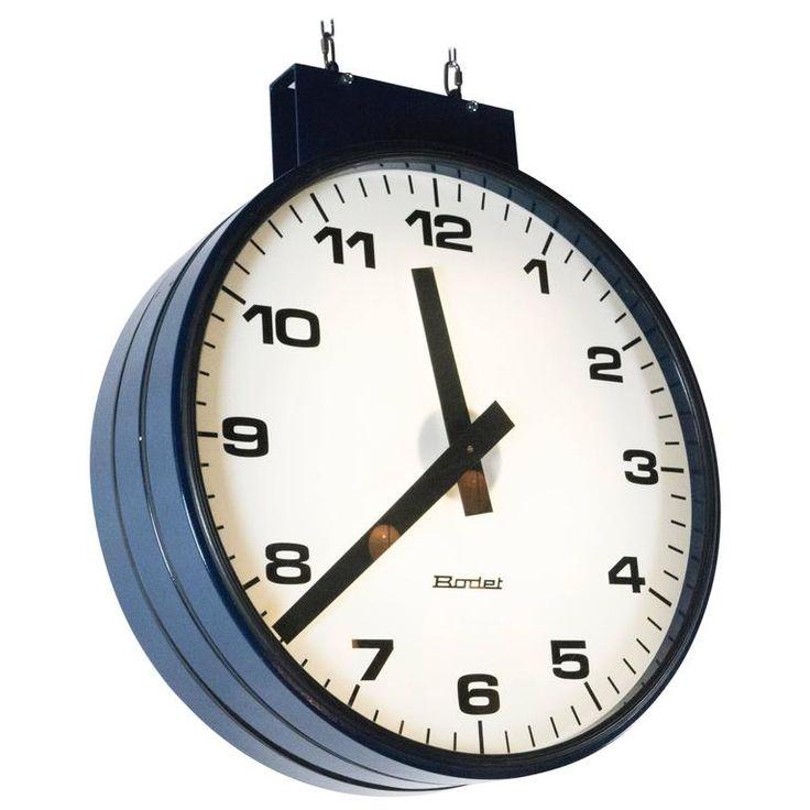 Double Faced Train Station Clock   1stdibs.com
