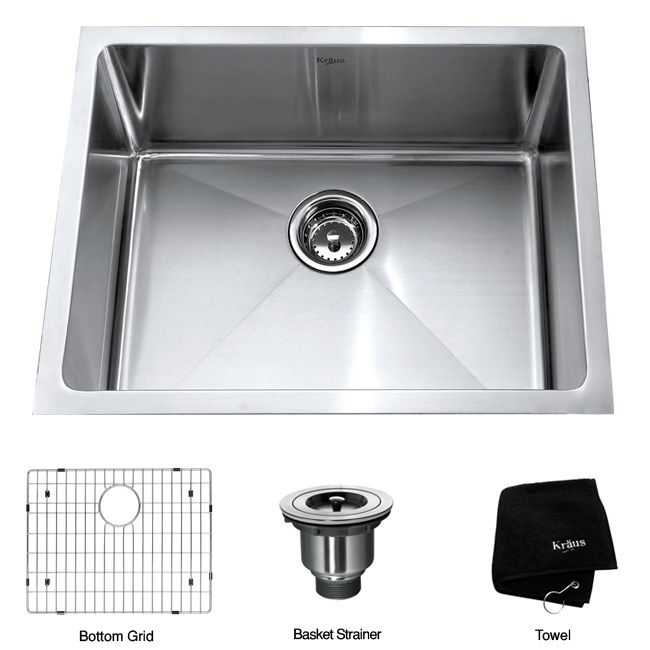 of your kitchen with this single bowl stainless-steel kitchen sink ...