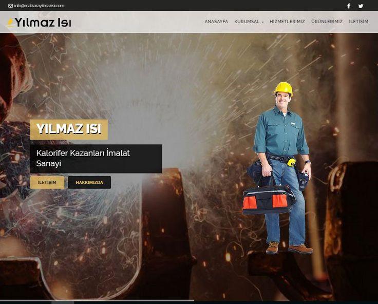 Malkara Yılmaz Isı için, mobil uyumlu web sitesi tasarım projesi tamamlanmıştır.