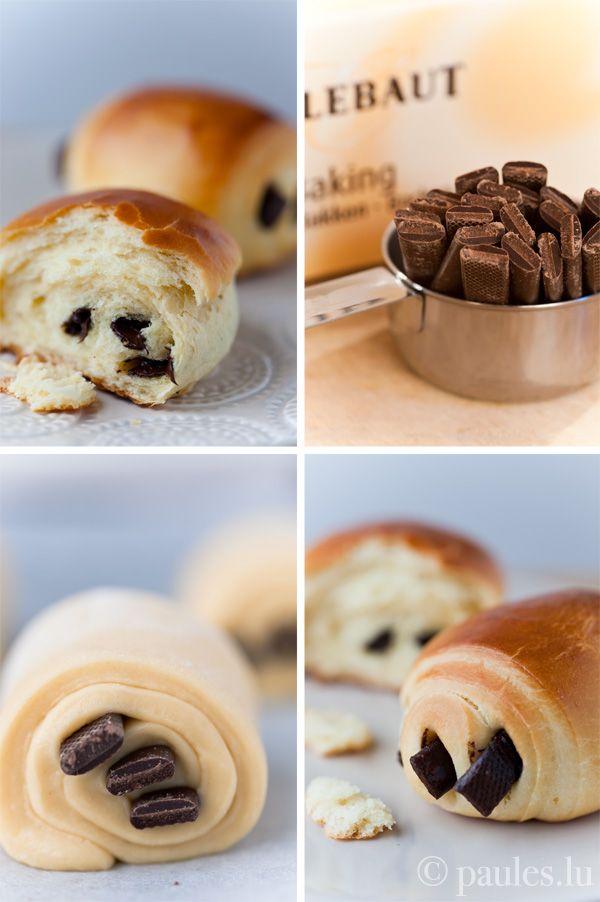 Petits pains au chocolat briochés | Lecker! Lecker! | Pinterest