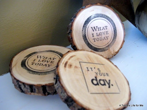 Wood Rubber Stamp And Ink Or Burning Kit