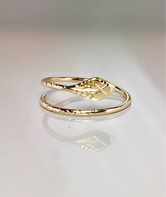 Baby Snake Ring 14k 10k Real Solid Gold Ladies Snake Rings Gold Thumb Ring Gold Pinky Ring Gold Adjustable Ring Gold Cuff Ring Gold Pinky Ring Gold Thumb Rings Snake Ring