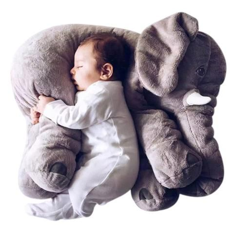 Stuffed Elephant Pillow and Plush Toy Assorted Colors & Sizes