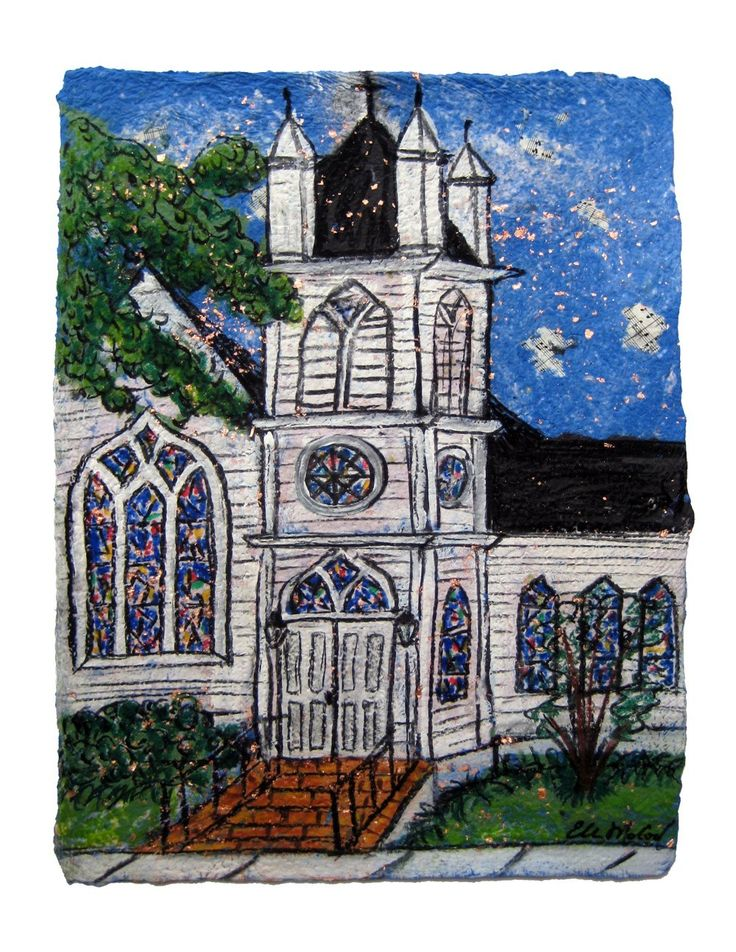 St Matthews Church Houma La.- PRINT matted to fit 11x14 frame by ellenmccordarts on Etsy
