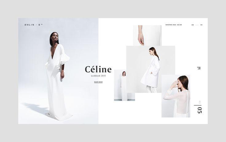 Web Design for a fashion brand.
