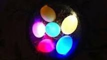 Glow in the dark Easter Eggs. This would be fun.