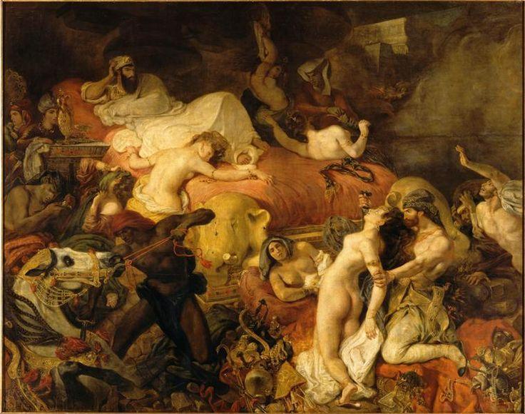Delacroix, Mort de Sardanapale, 1827-1828, Paris,  Musée du Louvre