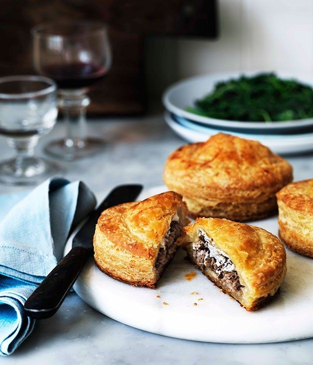 Duck and goat's cheese Pithiviers   Gourmet Traveller