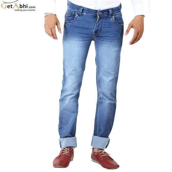 Look iconic when you wear these jeans by Custom .This stretch #denim #jeans will give you a decent look that will be worth show off again and again. These regular fit jeans feature a mid-rise waist, rinse wash, two back pockets.