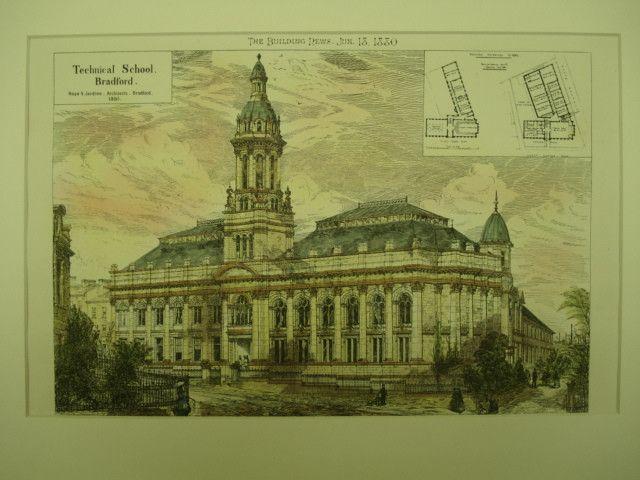 Technical School , Bradford, West Yorkshire, England, UK, 1880, Hope & Jardine