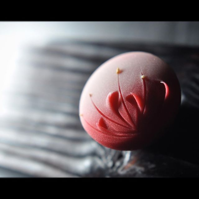 "一日一菓 「彼岸花」煉切製 wagashi of the day ""Cluster amaryllis"""